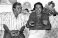 Gugu e Silvio Santos, São Paulo, SP.,11/02/1988.