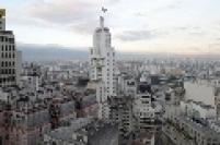 Vista do Edifício Altino Arantes Marques, a conhecida Torre do Edifício Altino Arantes, a Torre do Banespa. O prédio tem 35 andares e permite uma vista panorâmica da cidade de São Paulo.