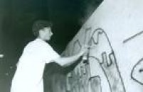 Grafiteiro em 1991.
