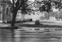Vista da Praça Roosevelt, no centro de São Paulo, na década de 50. Local era utilizado como estacionamento.