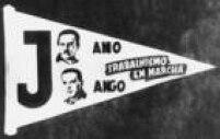 Flâmula com propaganda política da chapa PTN - PTB, com os candidatos<a href='http://https://acervo.estadao.com.br/noticias/personalidades,janio-quadros,558,0.htm' target='_blank'>Jânio Quadros</a>para presidente e<a href='http://https://acervo.estadao.com.br/noticias/personalidades,joao-goulart,557,0.htm' target='_blank'>João Goulart</a>paraseu vice,São Paulo, 10/09/1960.