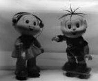Boneca da Mônica e boneco do Cebolinha