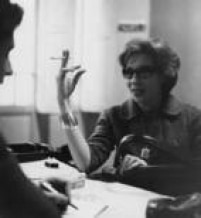 Retrato da escritora Clarice Lispector.Brasil, São Paulo, SP. Década de 60