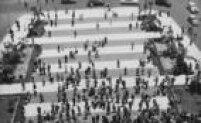 Vista panorâmica da<a href='http://acervo.estadao.com.br/noticias/lugares,praca-da-se,8250,0.htm' target='_blank'>Praça da Sé</a>, centro deSão Paulo, 1957