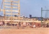 Sambódromo ganhando arquibancadas de concreto em 1993.