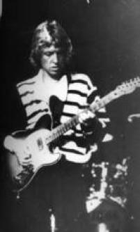 O guitarrista Andy Summers do The Police, Maracanãzinho, Rio, 1982