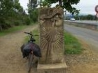 Sabrina aproveitou para registrar sua bicicleta ao longo do Caminho de Santiago