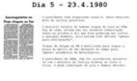 Presidente João Figueiredo<a href='http://acervo.estadao.com.br/pagina/#!/19800424-32242-nac-0001-999-1-not' target='_blank'>acusa Dom Paulo</a>de incitar a greve.