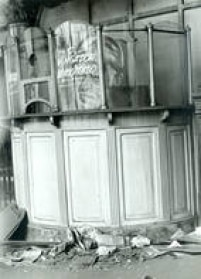 Bilheteria do cinema que funcionava no local,em 5/3/1971