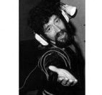 Raul Seixas gravano estúdio da Rádio Eldorado, em São Paulo, 03/02/1983.