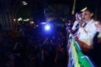 A candidata do PSB à Presidência, Marina Silva, realiza comício na Praça do Relógio, em Duque de Caxias, na Baixada Fluminense.RJ, 25/09/2014.