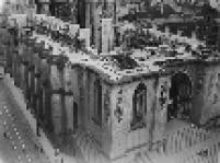 Obras na Catedral da Sé na década de 50, localizada no centro da capital paulista.