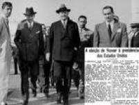<a href='http://acervo.estadao.com.br/pagina/#!/19281108-18078-nac-0002-999-2-not/busca/Hoover' target='_blank'>Eleição: 1928</a>/ Partido: Republicano  Hoover é recepcionado no Rio de Janeiro, 1928