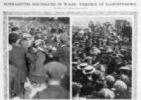 Ativistas são presas em Galesem setembro de 1913