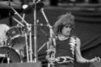 O cantor Serguei faz apresentação no festival Rock in Rio II, 24/01/1991