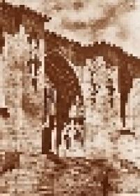 Entrada principal da Catedral da Sé, em construção (1933), no centro da capital paulista, centro de São Paulo.