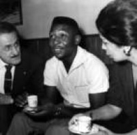 Pelé, Athie Jorge Cury e Ligia Moreira Dorneles.