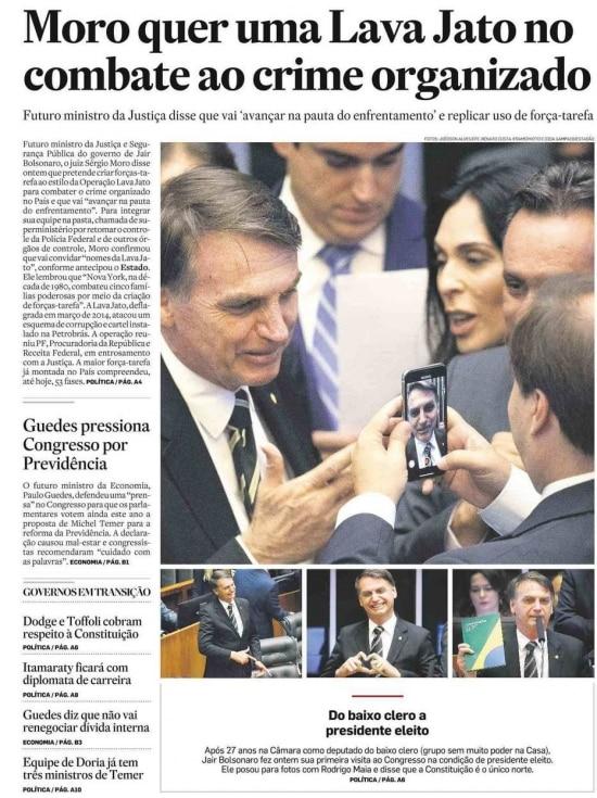 Sérgio Moro nojornal de 7/11/2018