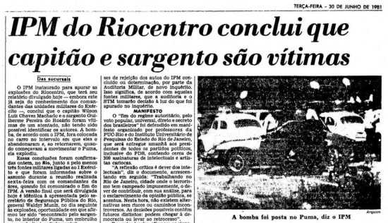 > Estadão -30/6/1981