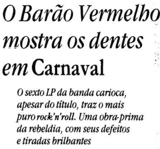 Lançamento do disco 'Carnaval' no Dama Xoc.