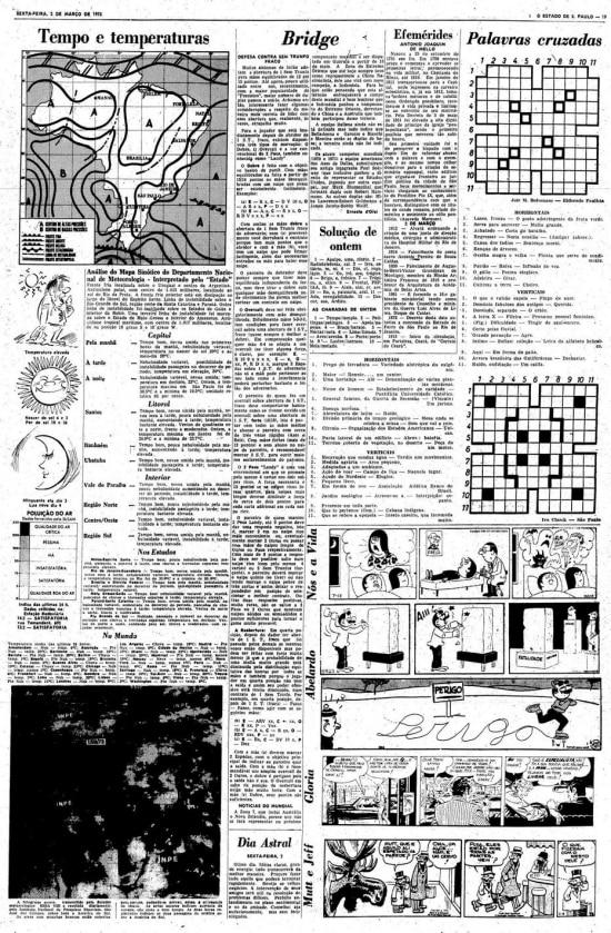 Página de2/3/1973com palavras cruzadas enviadas porJair Bolsonaro.