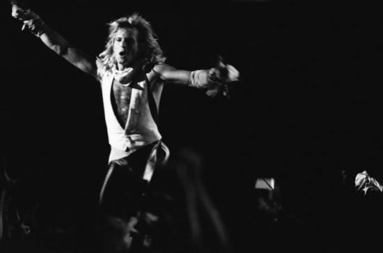 O vocalista David Lee Roth, do Van Halen, se apresenta nono Ginásio do Ibirapuera,São Paulo, SP. 21/01/1983.