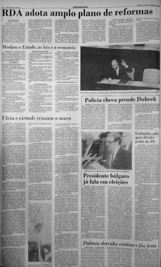 O Estado de S.Paulo- 18/11/1989