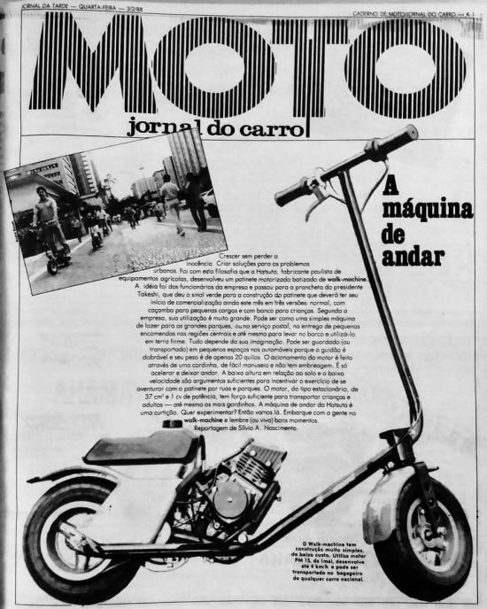 Caderno MOTO do Jornal do Carro de 3/2/1988