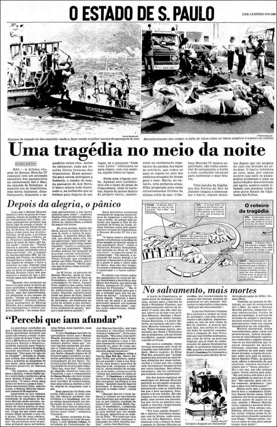 O Estado de S.Paulo - 03/01/1989