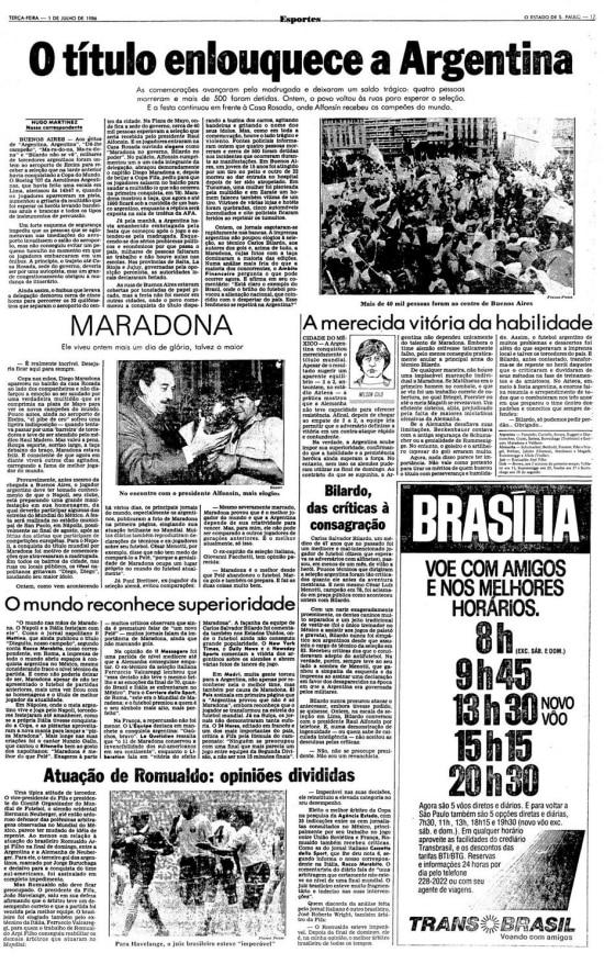 > Estadão - 01/07/1986