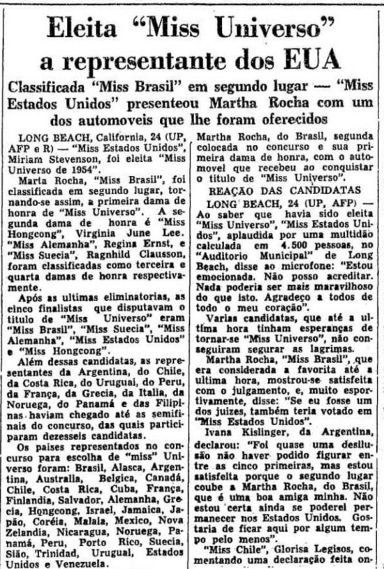O Estado de S.Paulo - 25/07/1954