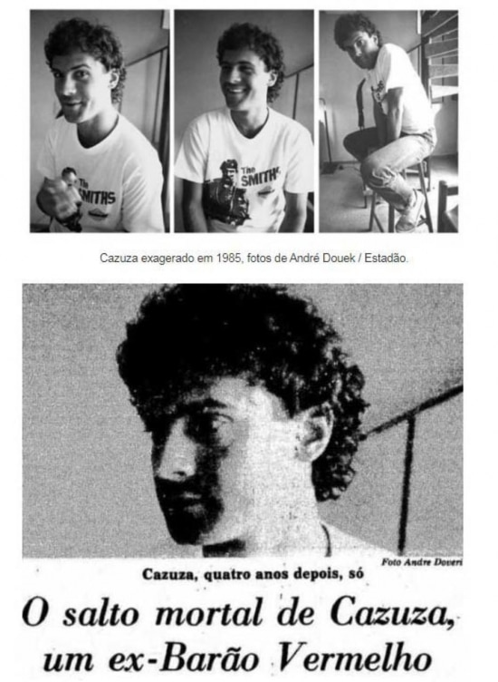 Cazuza, exagerado em 1985 Por Cristal da Rocha, cliqueaquipara ver mais