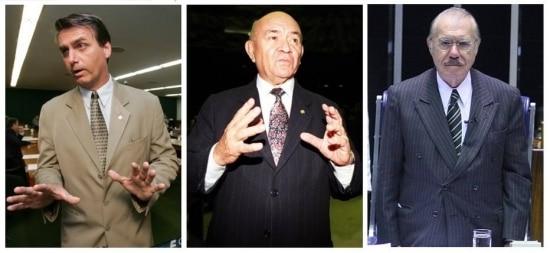 Jair Bolsonaro, Severino Cavalcanti e José Sarney