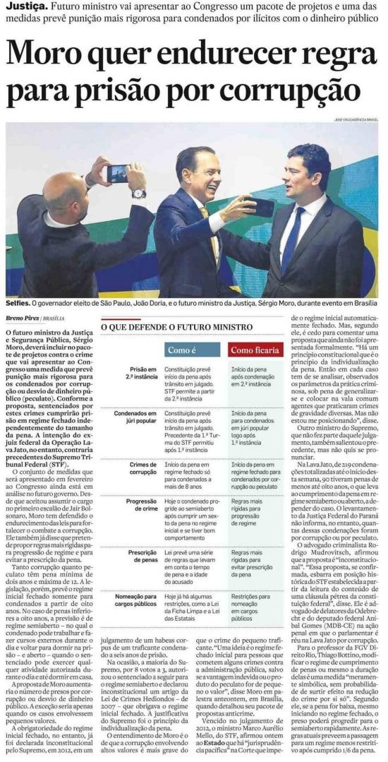 Sérgio Moro nojornal de 13/12/2018
