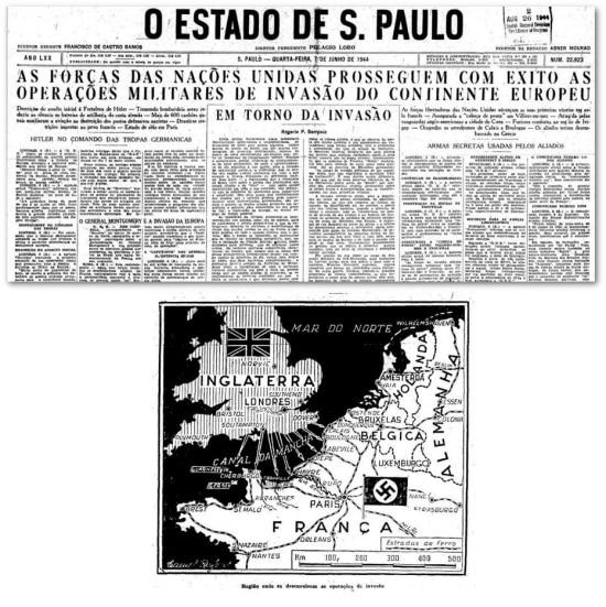 O Estado de S.Paulo- 7/6/1944 clique aqui para ver a página
