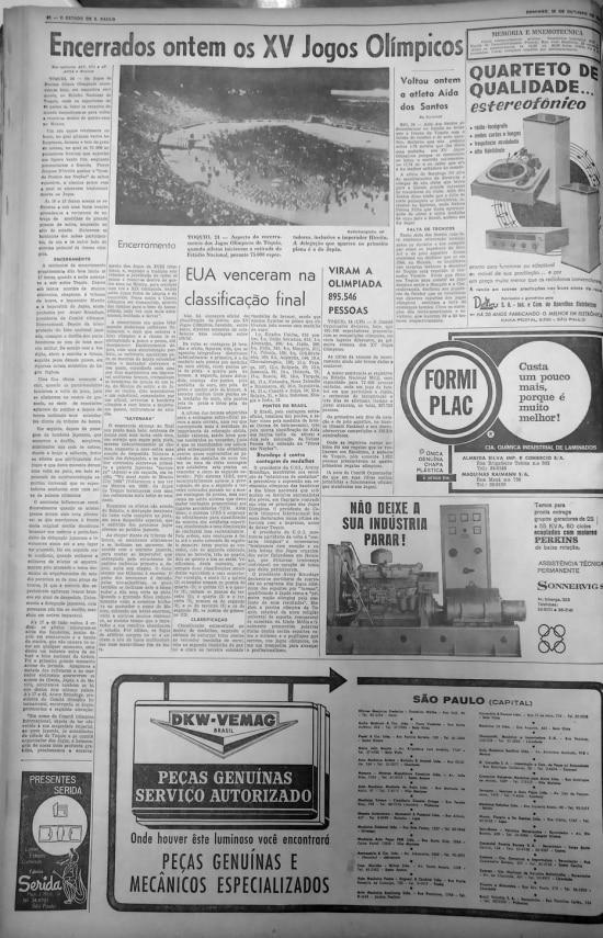 >> O Estado de S.Paulo - 25/10/1964