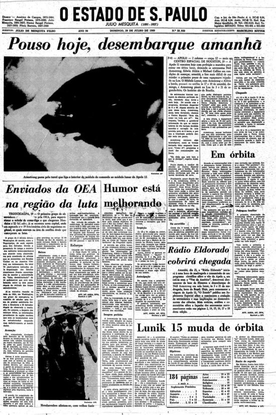 Página de20/7/1969.