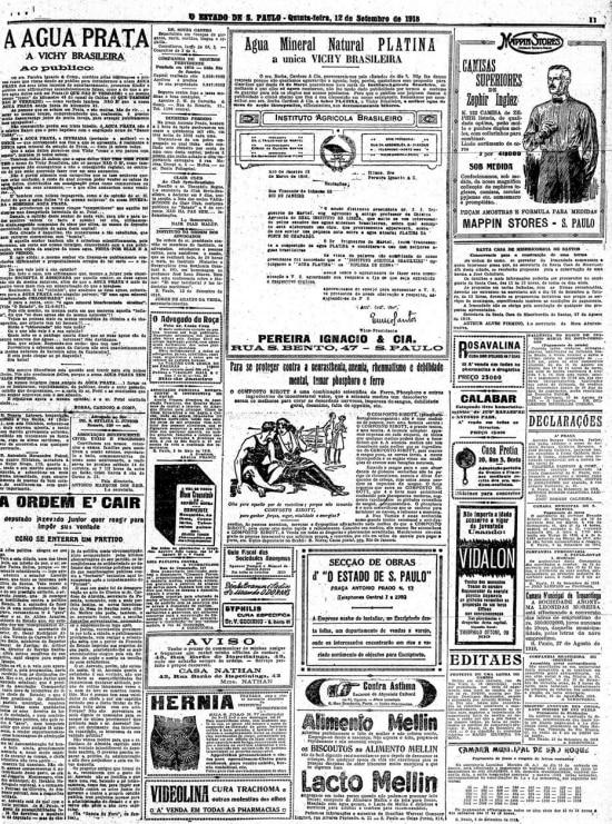 O Estado de S.Paulo - 12/9/1918