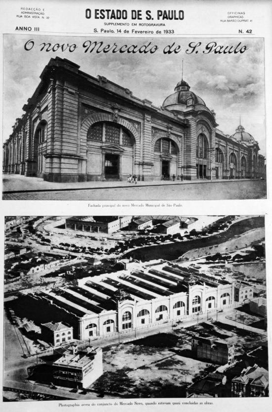 Mercado Municipal em fevereiro de 1933.
