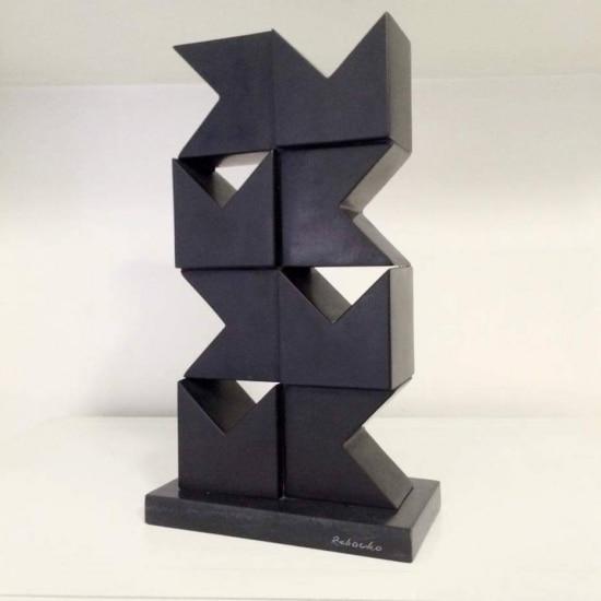 Maquete da escultura em homenagem a Volpi que será instalada no Parque Alfredo Volpi