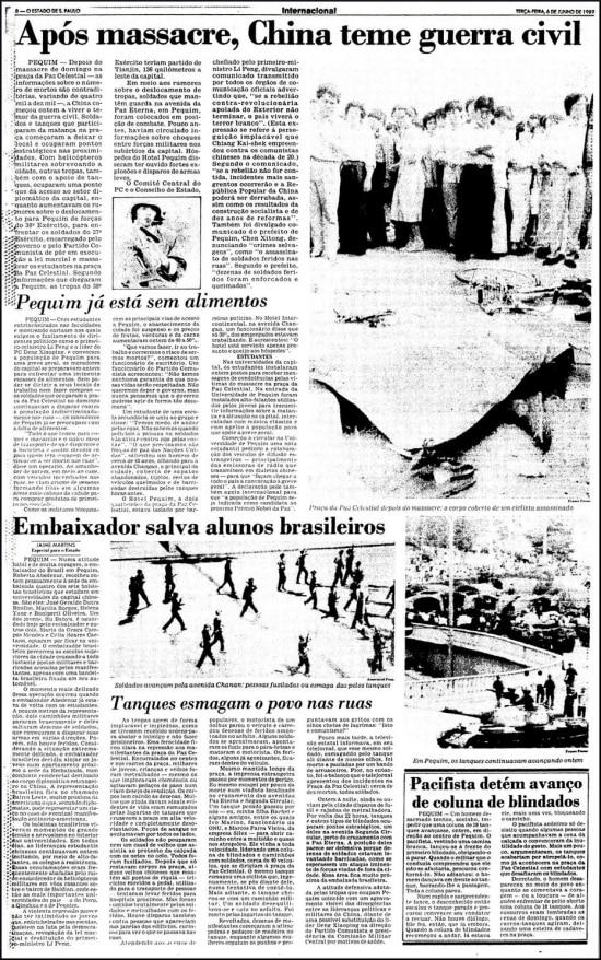 O Estado de S.Paulo - 06/6/1989