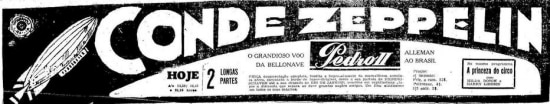 Anúncio de filme soibre o dirigível no jornal de 27/5/1920