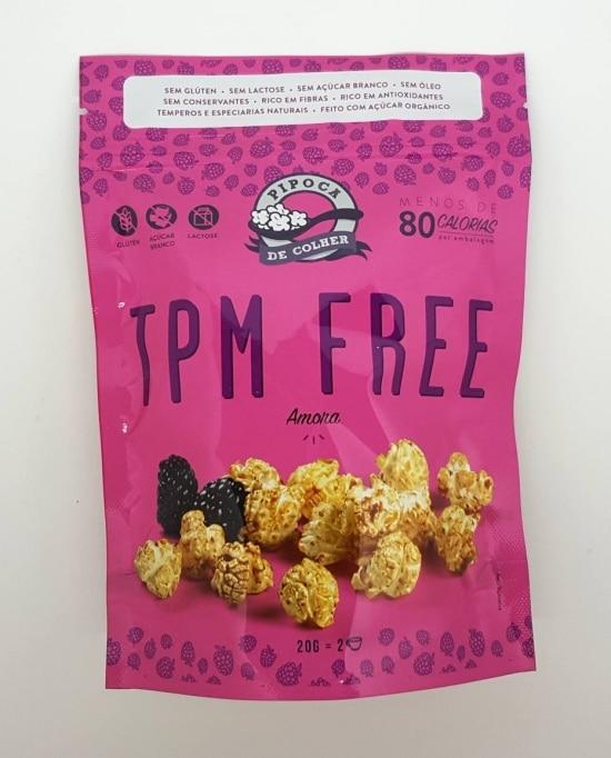 Pipoca TPM free, da Pipoca de Colher, tem menos de 80 calorias a porção e sabor de amora