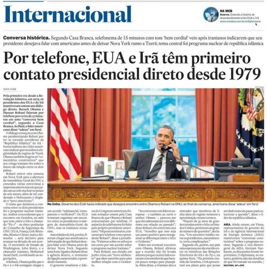 O Estado de S.Paulo - 28/09/2013 Clique aqui para ver página ampliada