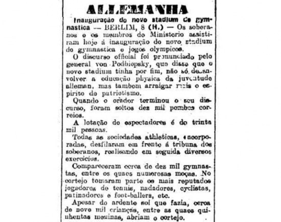 O Estado de S.Paulo - 09/6/1913 Clique aqui para ver mais
