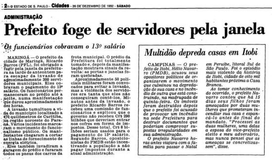 >> Estadão - 26/12/1992