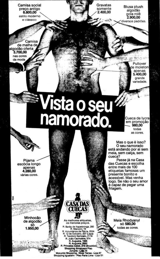 Anúncio publicado no Estadão de 09/6/1983