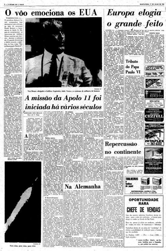 Página de17/7/1969.