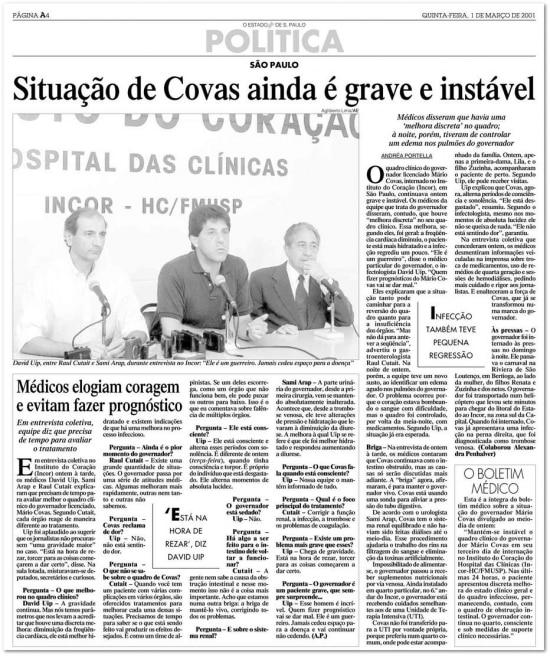 O Estado de S.Paulo - 01/3/2001  clique aqui para ver a página