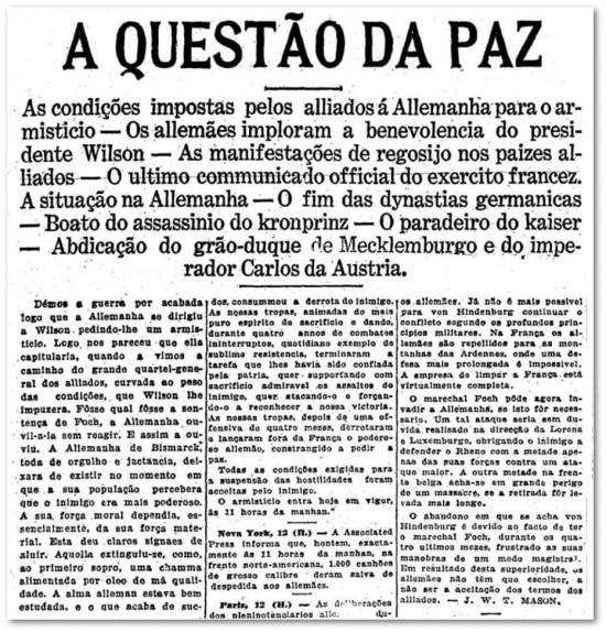 O Estado de S.Paulo - 13/11/1918
